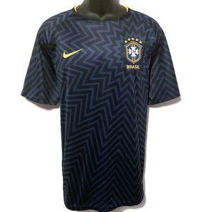 Nike Men's Brazil Authentic Soccer Shirt